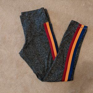 *2/15$* Leggings with Colourful Stripes on Side